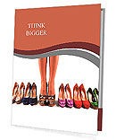 Multicolored shoes and legs on a white background Presentation Folder