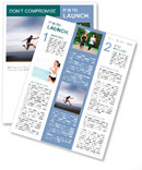 Sport and energy concept - athletic man running fast Newsletter Templates