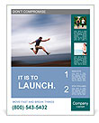Sport and energy concept - athletic man running fast Poster Templates