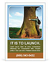 Love nature, woman hugging huge tree trunk Ad Template