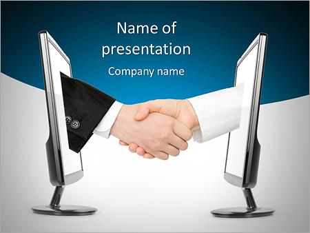 Virtual handshake internet business concept isolated on white virtual handshake internet business concept isolated on white background powerpoint template toneelgroepblik Gallery