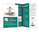 3d people - human character flying on U.S. dollars. 3d render illustration Brochure Templates