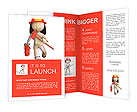 RUN fire fighter, RUN!!! Brochure Templates
