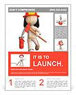 RUN fire fighter, RUN!!! Flyer Template