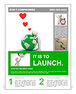 Love the earth concept, 3d man hugging green globe on white background Flyer Template