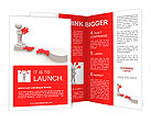 3d people - men, person and last piece of puzzle - jigsaw. Brochure Templates