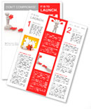 3d people - men, person and last piece of puzzle - jigsaw. Newsletter Template