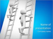 Competição e escadas. 3d rendeu a ilustração. Modelos de apresentações PowerPoint