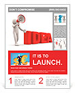 "3d person with a megaphone and word "" Idea"" - 3d render illustration Flyer Templates"