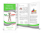 3d people - man, person with words Past and Future Brochure Templates