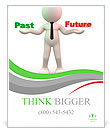 3d people - man, person with words Past and Future Poster Template