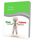 3d people - man, person with words Past and Future Presentation Folder