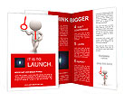 3d people - men, person with a key. Concept of solution. Brochure Templates