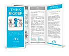 3d people - men, person in group. Leadership and team Brochure Template