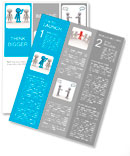 3d people - men, person in group. Leadership and team Newsletter Template