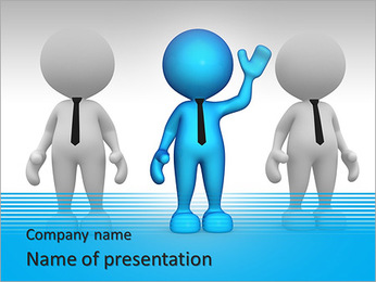 3d people - men, person in group. Leadership and team PowerPoint Template
