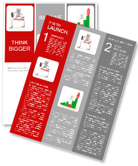 D People Man Person Jumping Over A Hurdle Obstacle Entitled - Training newsletter template