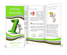 3d people - man, person with number one. Brochure Templates