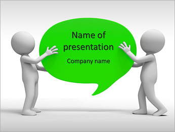 Board/ two people carrying an oval board PowerPoint Template