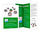 3d Illustration of one group target Brochure Templates