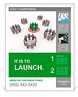 3d Illustration of one group target Poster Template