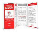 Contact/phone/A people speak by phone Brochure Templates