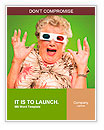 Afraid Senior Woman Wearing 3d Glasses Isolated On Green Background Word Templates
