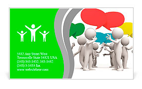 Discuss/debate/Seve ral people are discussed Business Card Templates