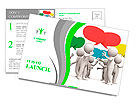 Discuss/debate/Seve ral people are discussed Postcard Template
