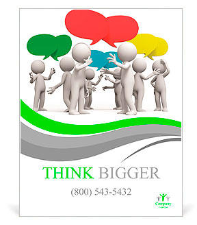 discuss debate seve ral people are discussed poster template