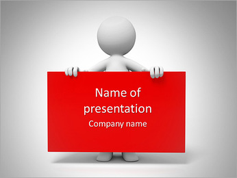Board/a people is holding a board PowerPoint Template