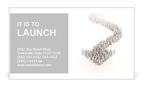 A large group of stylized 3d people forming an arrow Business Card Template