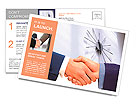 Business handshake. Postcard Template