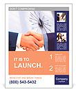 Business handshake. Poster Template