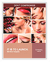 Collage of several photos for beauty industry Word Templates