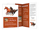 Horses isolated Brochure Templates