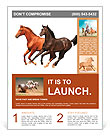 Horses isolated Flyer Template