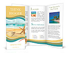 Starfish on the Beach. Brochure Templates