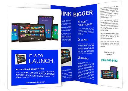Set Of Tablet Computers Brochure Template Design Id 0000010375