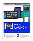 Set of tablet computers Flyer Template