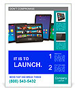 Set of tablet computers Poster Template