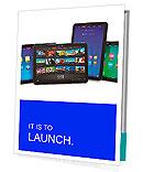 Set of tablet computers Presentation Folder