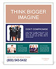 Group of business people. Business team. Poster Template