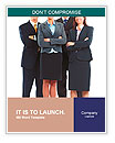 Group of business people. Business team. Word Template