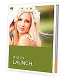 Portrait of beautiful young girl outdoors in spring Presentation Folder