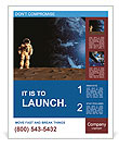 The astronaut on a background of a planet Poster Template