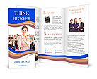 Human resources. Businesswoman and a large group of business people. Brochure Templates