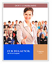 Human resources. Businesswoman and a large group of business people. Word Template