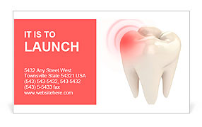 Toothache 3d concept Business Card Template