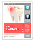 Toothache 3d concept Poster Template